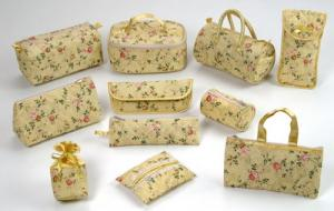 Series of yellow rose bags