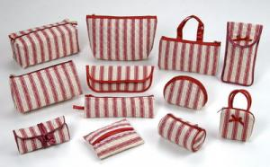 Series of red stripe bags
